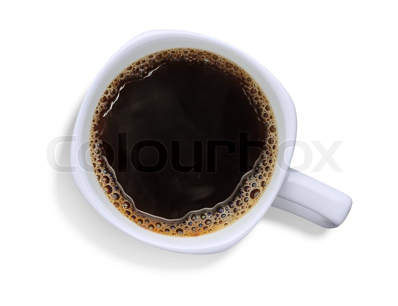 Stock image of 'A cup of coffee with thin smoke,isolate on white'