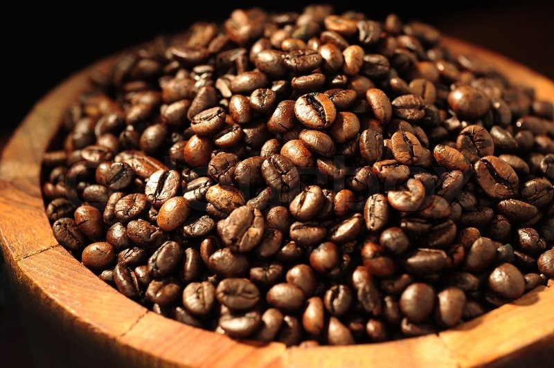 Stock image of 'Coffee beans'