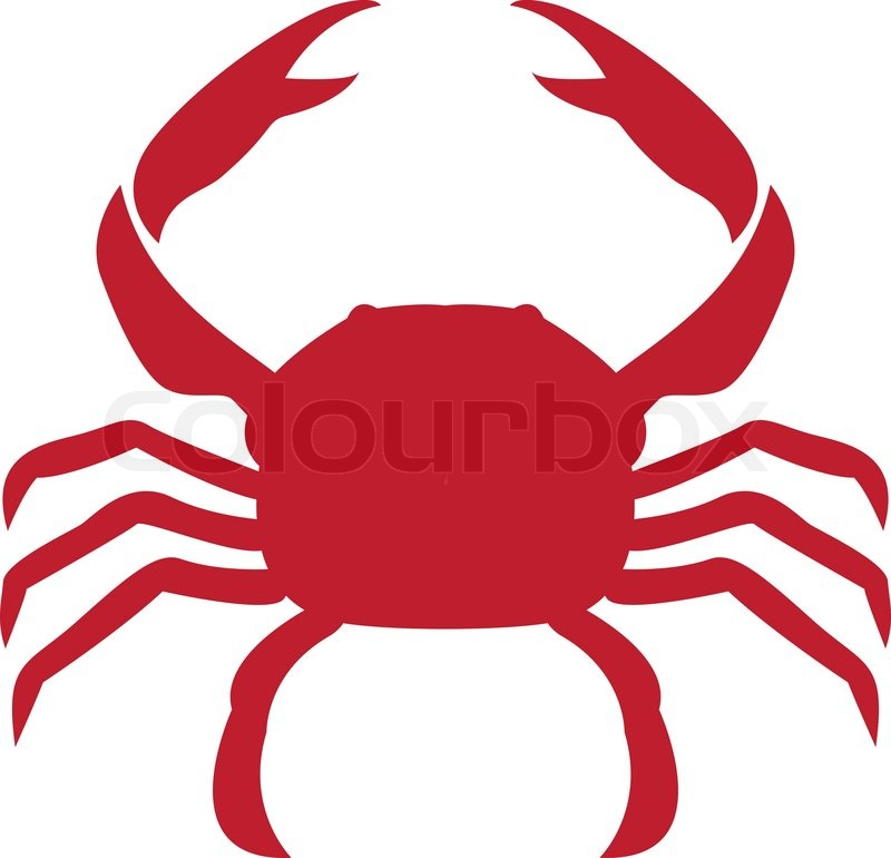 vector image of an crab stock vector colourbox rh colourbox com crab vector art free crab vector graphic free