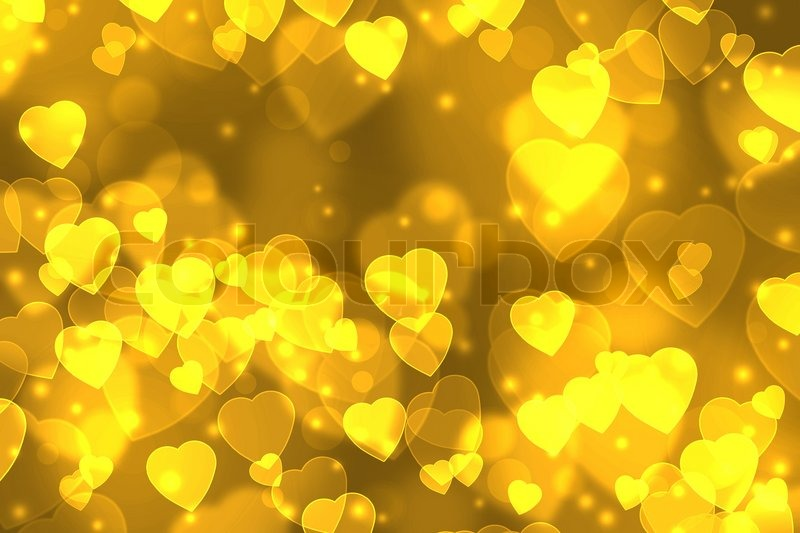 Stock image of 'Background-color gold heart-shaped'