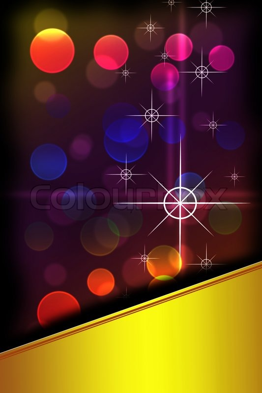 Stock image of 'Abstract stars and bokeh background with space for text'