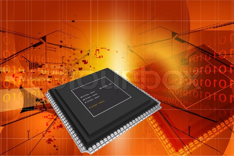 Stock image of 'Microprocessors'