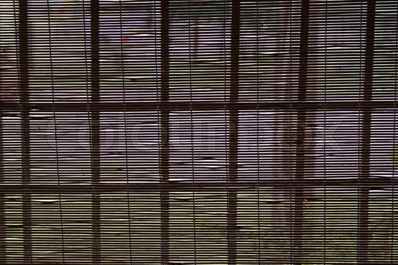 bambus gardin Bambus gardin på vinduerne | stock foto | Colourbox bambus gardin