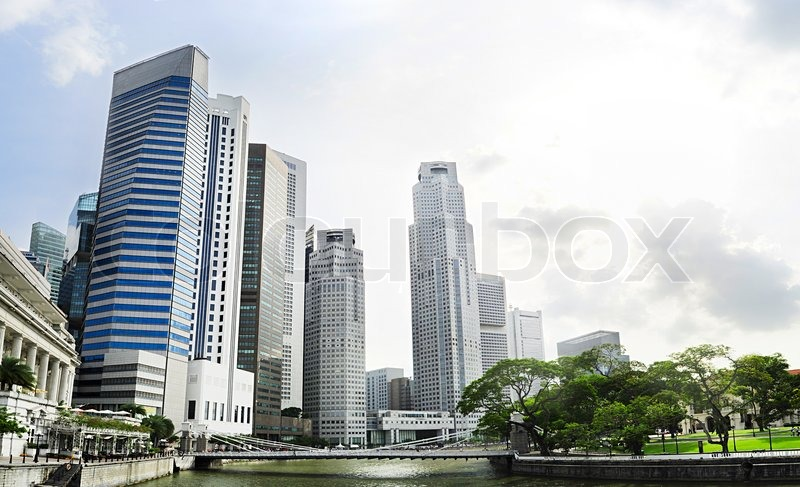 Stock image of 'Singapore river'