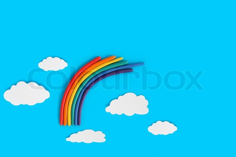 Stock image of 'Plasticine Rainbow'