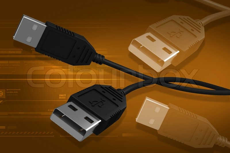 Stock image of 'USB cable'