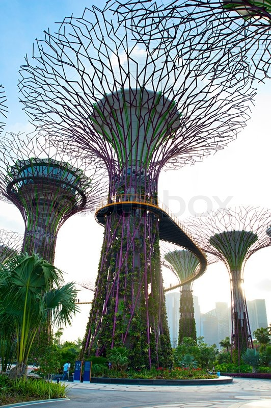 Stock image of 'Gardens by the Bay'