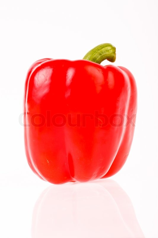 Stock image of 'Red sweet pepper in isolated on white'