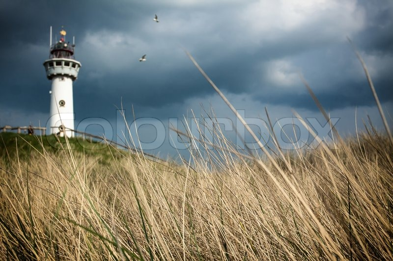 Stock image of 'Lighthouse off the east coast'