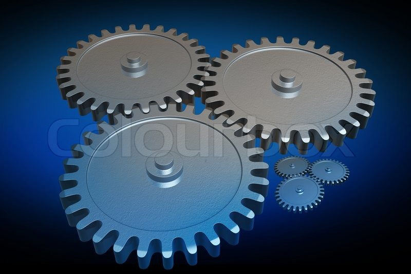 Stock image of 'Gears'