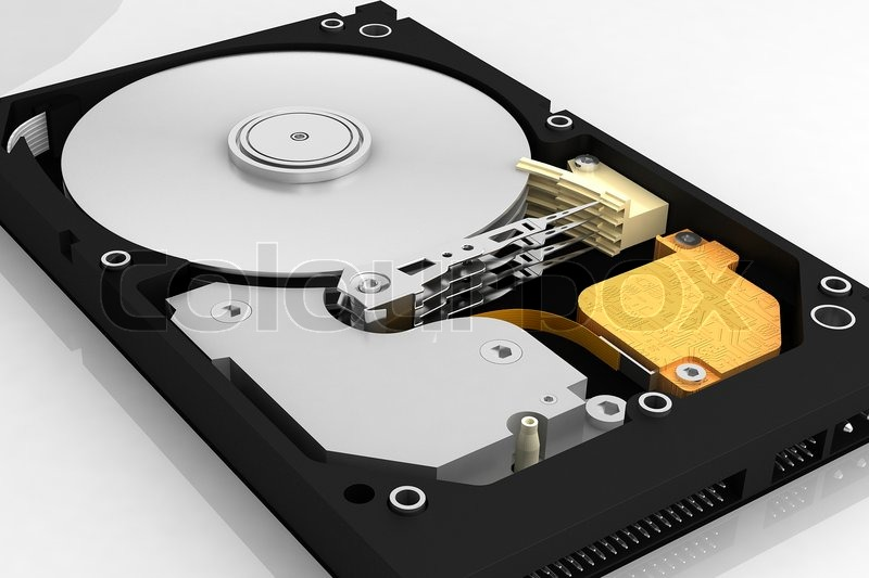 Stock image of 'Hard disk drive'