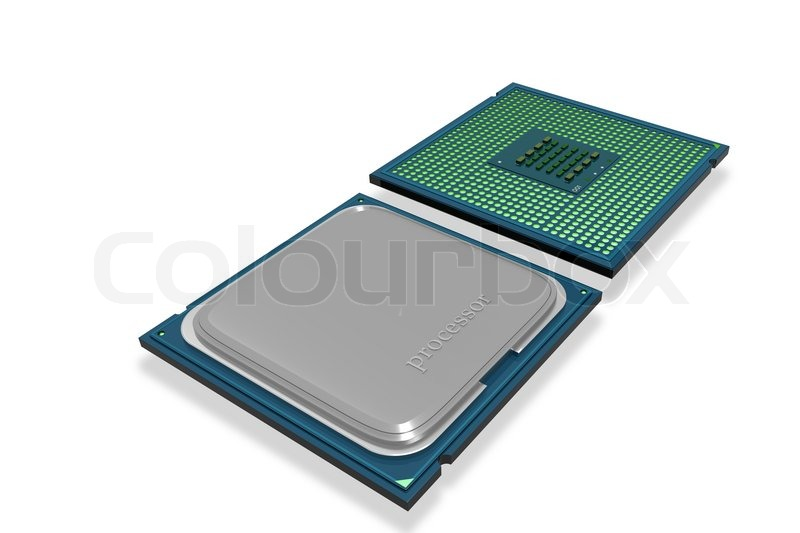 Stock image of 'Computer processor'