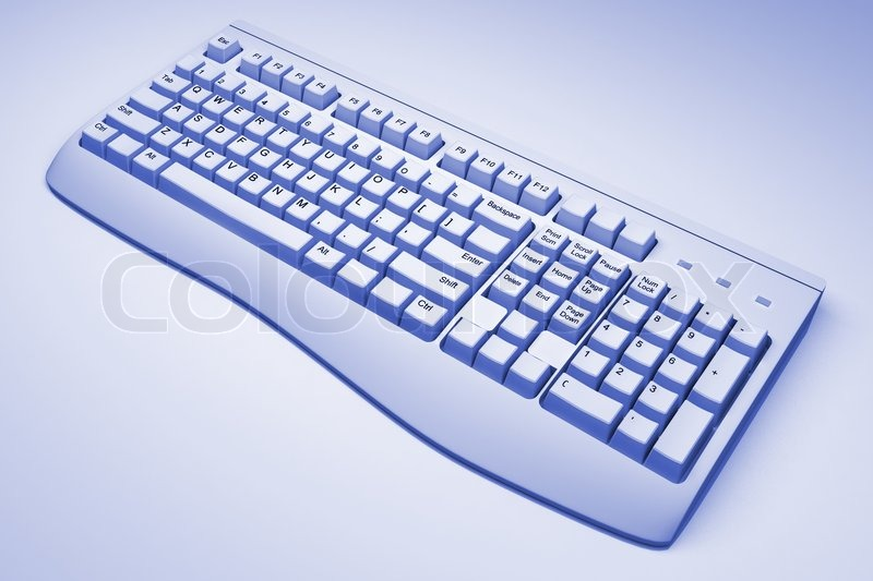 Stock image of 'Computer keyboard'