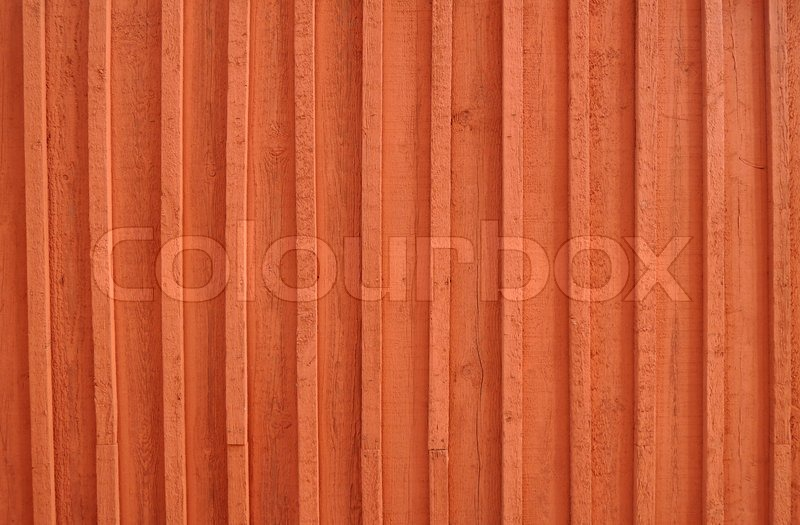 Stock image of 'Background image of a wooden wall painted in bright red color'