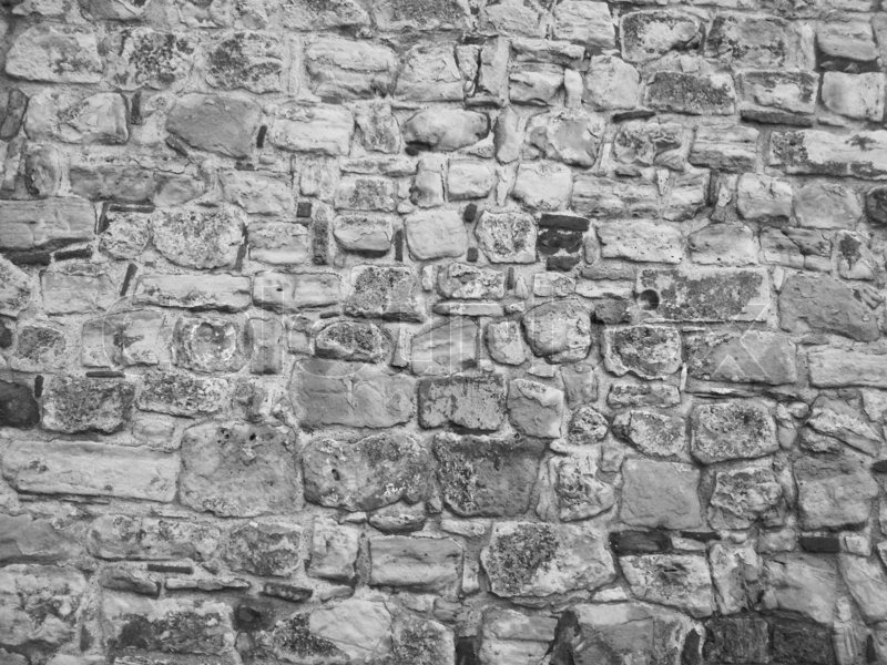 Stock image of 'Black and white stone wall'