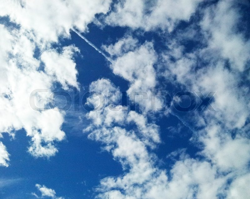 Stock image of 'Blue sky with clouds'