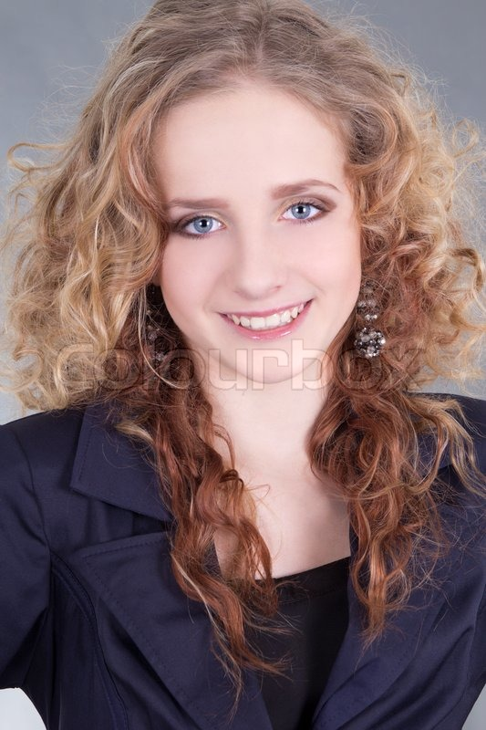 Stock image of 'Portrait of young beautiful woman'