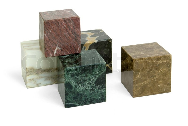 Stock image of 'Stone cubes'