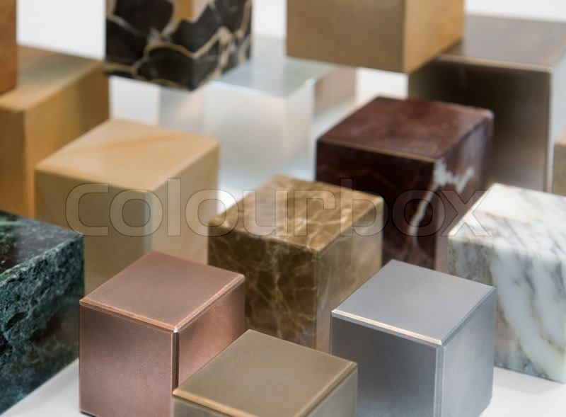 Stock image of 'Various cubes'
