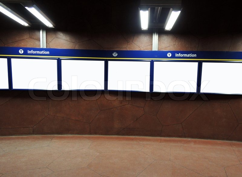 Stock image of 'Empty information panel'
