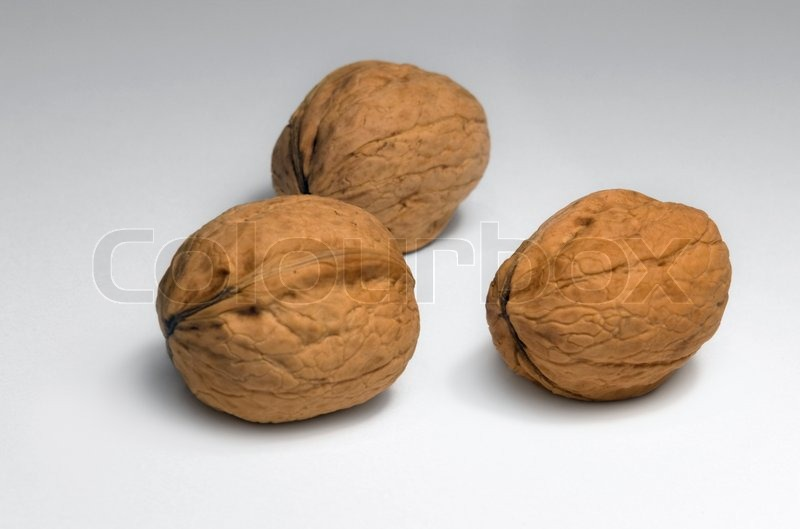 Stock image of 'Three walnuts'