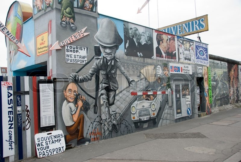 Editorial image of 'The East Side Gallery - the largest outdoor art gallery in the world'