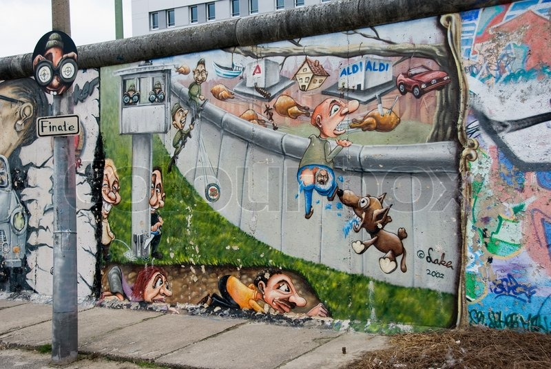 Editorial image of 'East side gallery the largest outdoor art gallery in the world in Berlin'