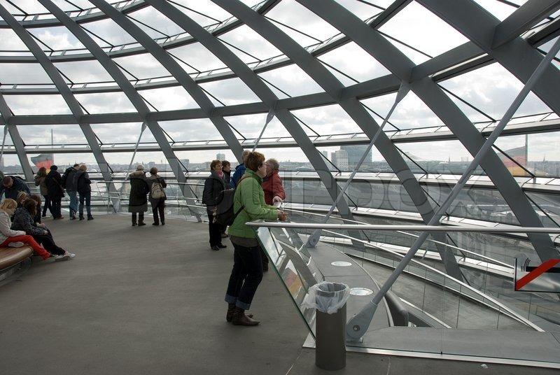 Editorial image of 'The Cupola on top of the Reichstag building in Berlin'