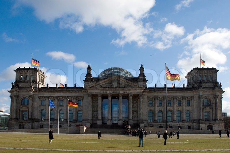 Rigsdagen i Berlin , Tyskland , blev Det åbnede i 1894 som Parlament af det tyske kejserrige og ...
