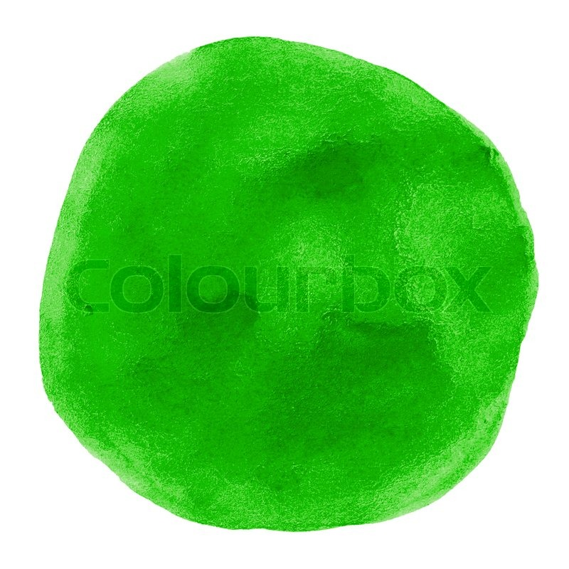 Stock image of 'watercolor paper painted green on white watercolor'