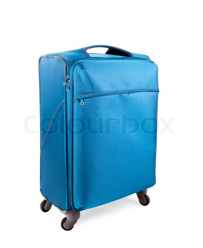 Stock image of 'Suitcase on a white background'