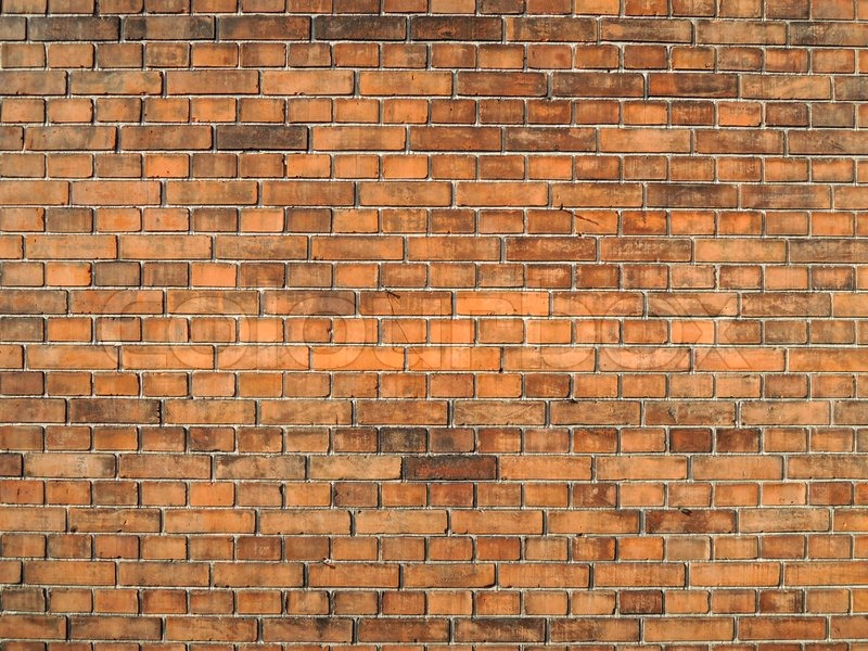 Stock image of 'Orange brick wall texture'