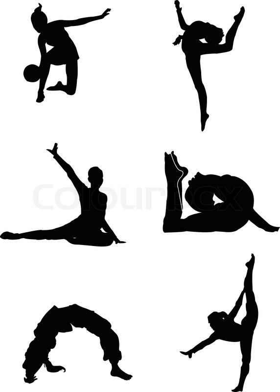 Gymnastic Collectioneps Stock Vector Colourbox