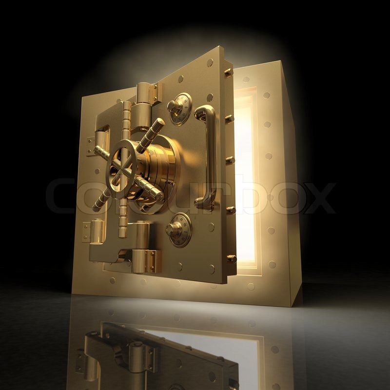 Stock image of 'Opening vault and volume light 3d'