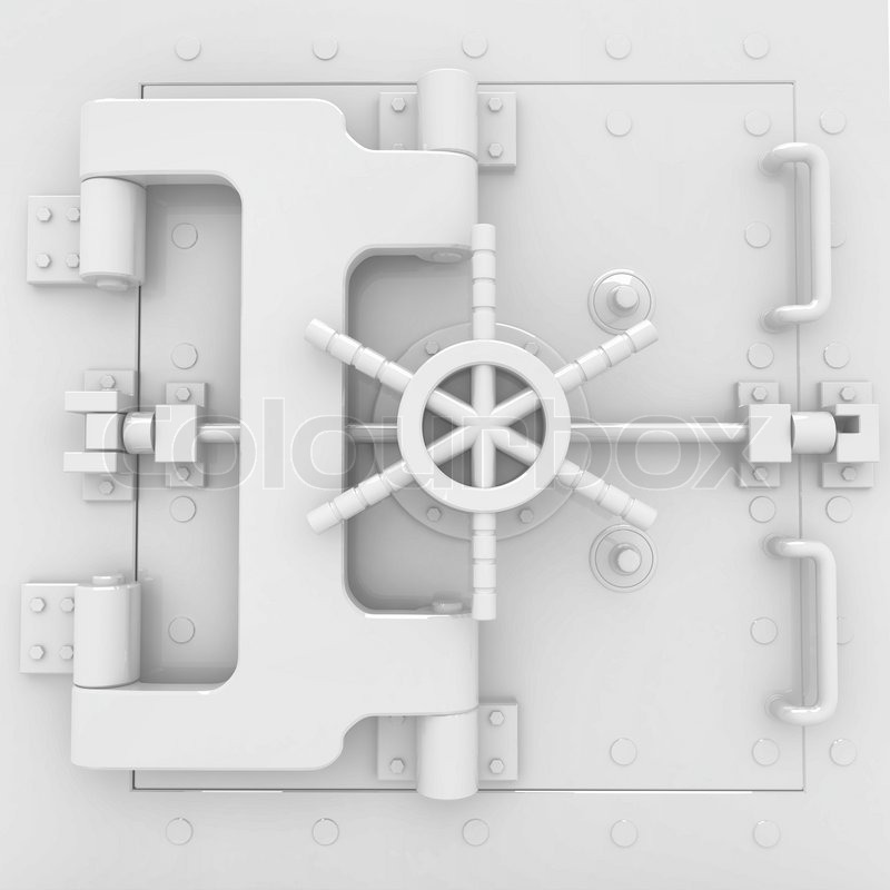 Stock image of 'Safe in stainless steel Bank Vault'