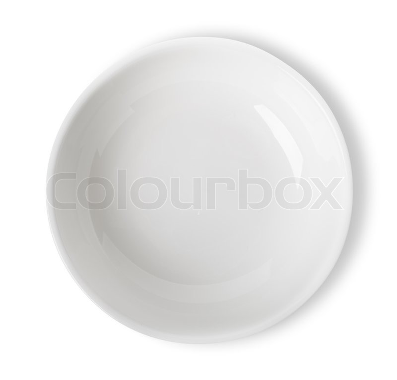 Stock image of 'Empty white bowl isolated on white background. Clippin Path'