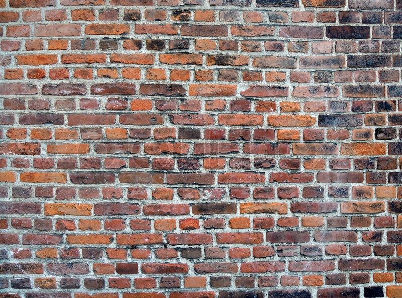 Stock image of 'Red retro brick wall'