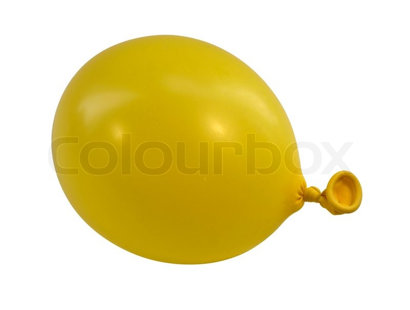 Stock image of 'Yellow balloon upright'