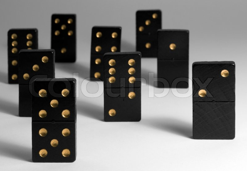 Stock image of 'Dominoes'