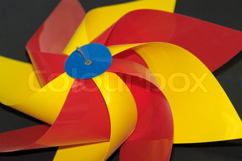 Stock image of 'Colorful wind wheel'