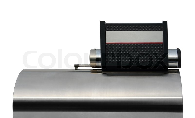 Stock image of 'studio photography of a surface measuring instrument isolated on white with clipping path'