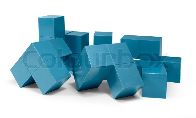 Stock image of 'Blue cubic objects'