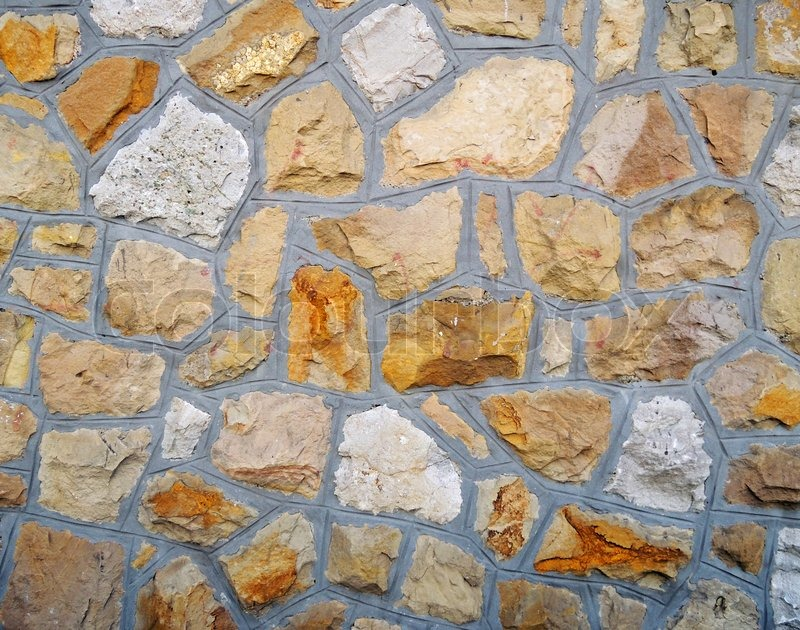 Stock image of 'Wall of stones'