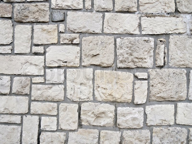 Stock image of 'White stone wall'