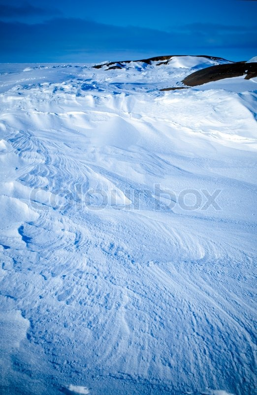 Stock image of 'Beautiful pattern in the snow 2'