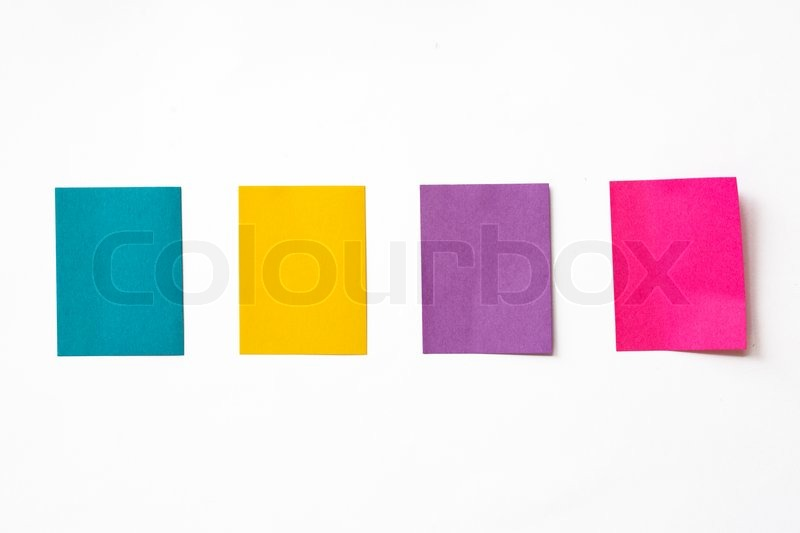 Stock image of 'Colorful sticky notes on white background'