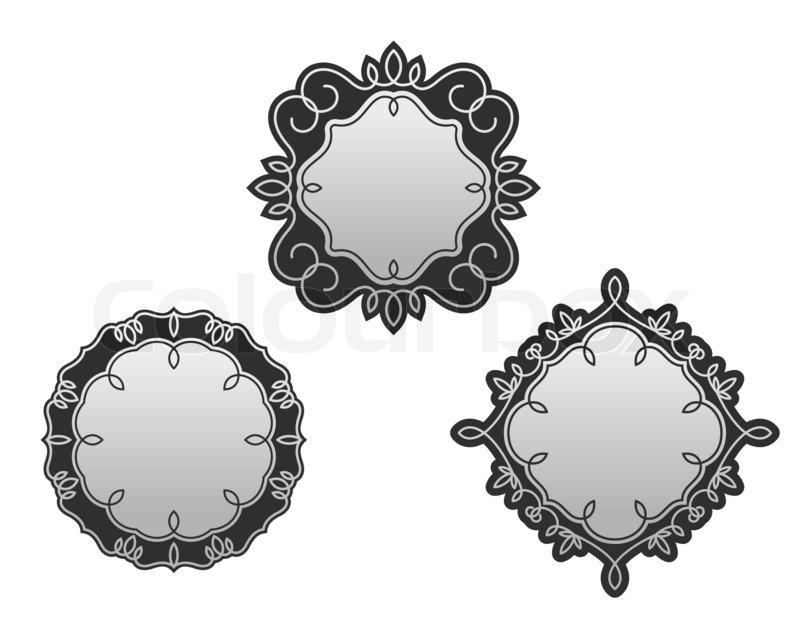 Set von dekorativen Rahmen und Grenzen | Stockfoto | Colourbox