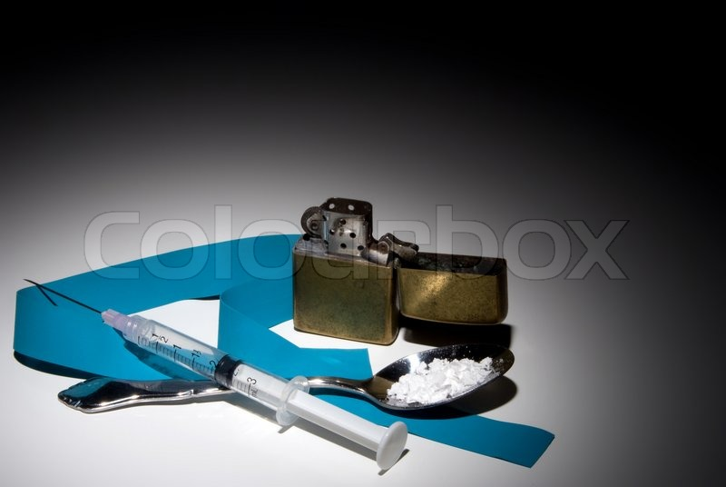 equipment used in the preparation of illegal street drugs