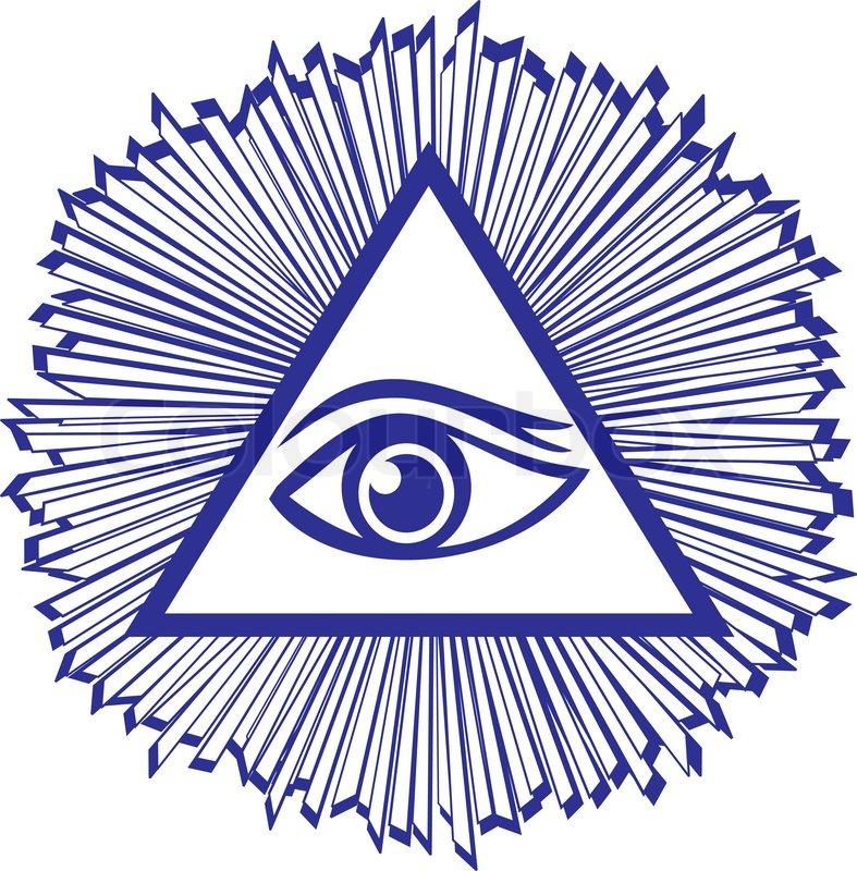 Eye Of Providence Or All Seeing Eye Of God Famous Mason Symbol