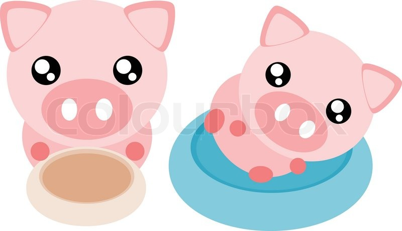 Cute Pig Face Drawing Cartoon Pig Action And Emotion